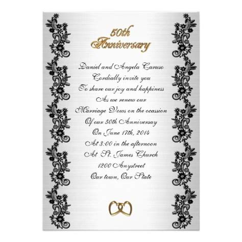 Wedding Vows Border by 50th Anniversary Vow Renewal Black Border