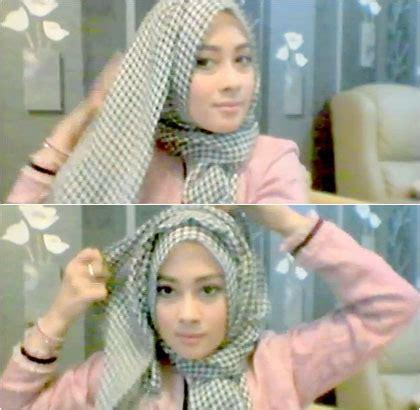 tutorial hijab noura tutorial hijab hanya 1 menit ala personil noura nina