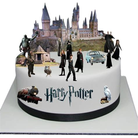 harry potter edible wafer card cake topper