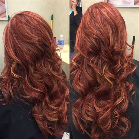 chocolate red hair on pinterest red blonde highlights long brown hair with red and blonde highlights www