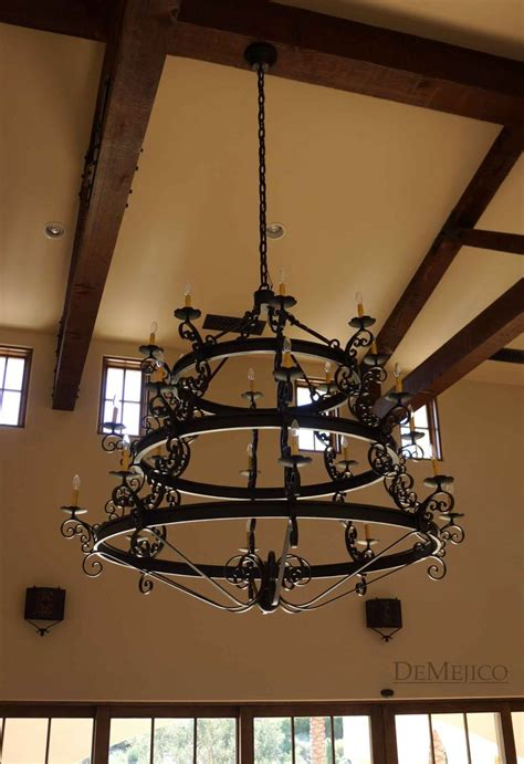 Spanish Wrought Iron Chandeliers Spanish Colonial Gothic Revival Chandeliers Pinterest