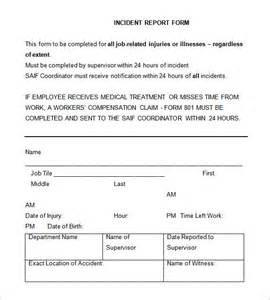 Incident Report Sle Letter For Broken Item Incident Report Template 39 Free Word Pdf Format