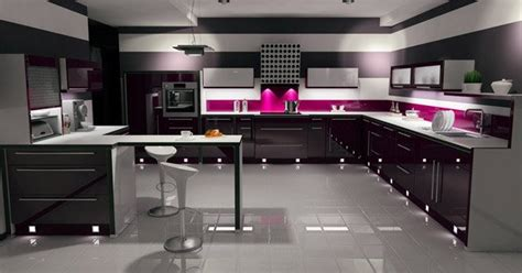black gloss kitchen ideas 15 black and gray high gloss kitchen designs home design