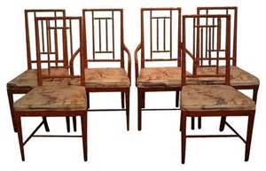 Asian Dining Chairs Pre Owned Vintage Chinoiserie Dining Chairs Set Of 6 Asian Dining Chairs By Chairish