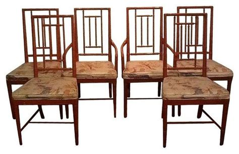 pre owned vintage chinoiserie dining chairs set of 6
