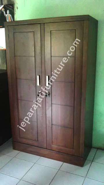 Lemari Plastik Pintu Dua lemari pakaian minimalis dua pintu jepara jati furniture