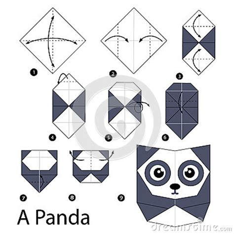 how to make 3d origami panda step by step how to make origami a panda