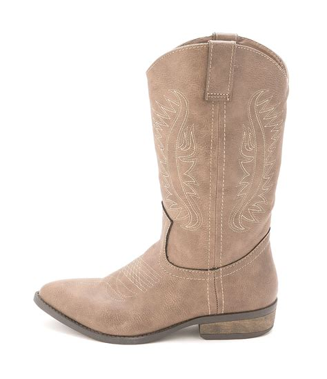 rage womens wamblee pointed toe mid calf cowboy boots