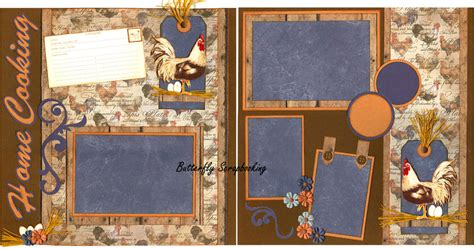12x12 Scrapbook Layout Kits | home cooking 12x12 page layout scrapbook kit limited ebay