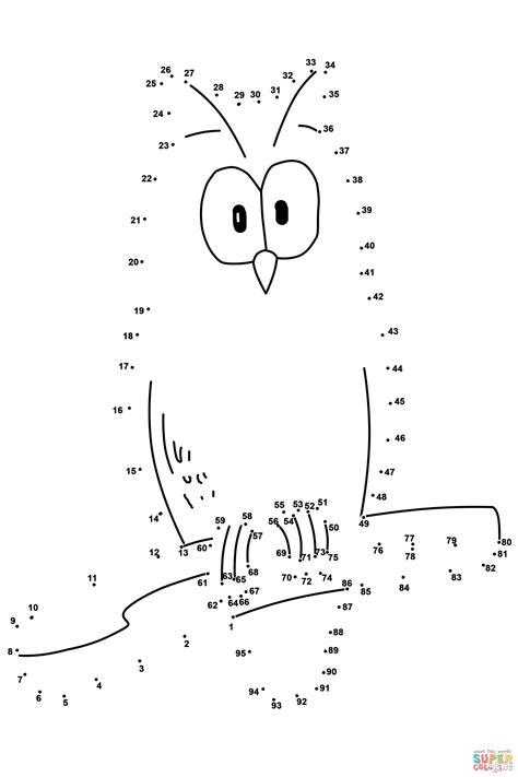 free printable dot to dot up to 100 owl dot to dot free printable coloring pages