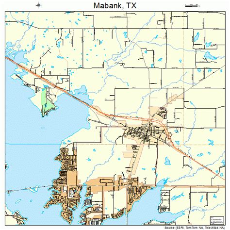 where is mabank texas on a map mabank texas map 4845324