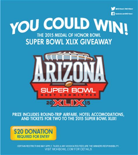 Roosters Super Bowl Giveaway - prize giveaway rules and regulations medal of honor bowl south carolina s
