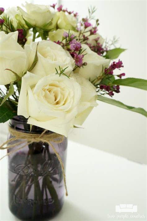 diy floral arrangements diy jar flower arrangement with kroger roses two