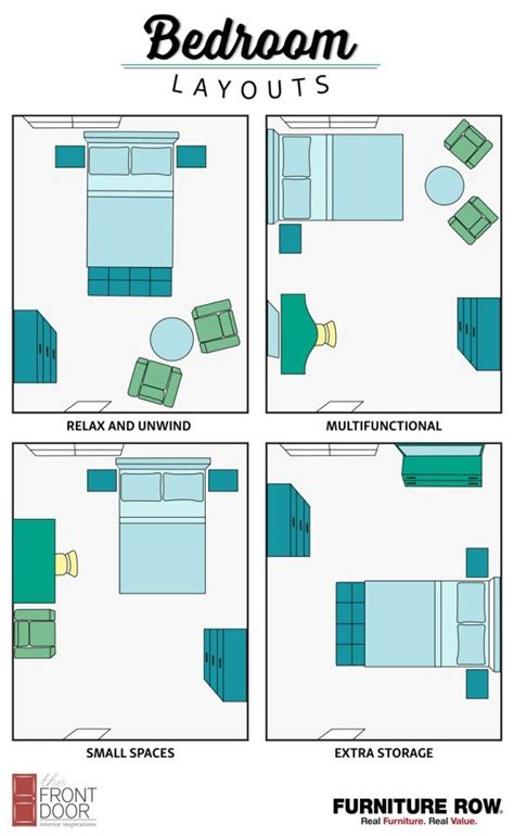 bedroom layout guide  front door  furniture row