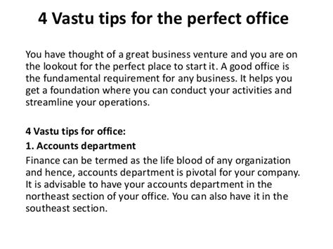 4 vastu tips for the office