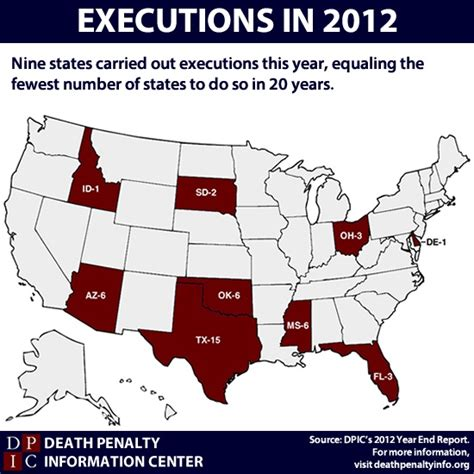 executions in the u s in 2003 death penalty information the death penalty in 2012 death penalty information center