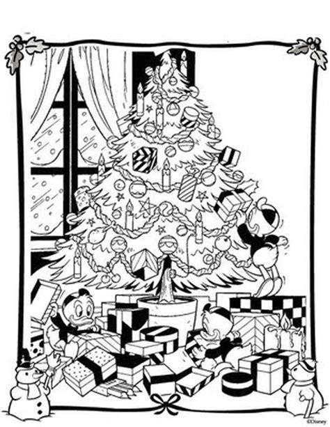 Disney Christmas Tree Mailing Presents Coloring Pages Disney Tree Coloring Page