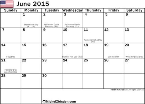 June 2015 Calendar June 2015 Calendar With Holidays Gallery