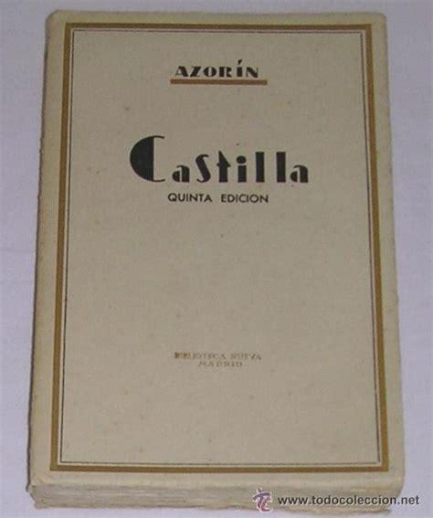 libro castilla castilla jos 233 mart 237 nez ru 237 z azor 237 n 1935 comprar libros antiguos de ensayo en