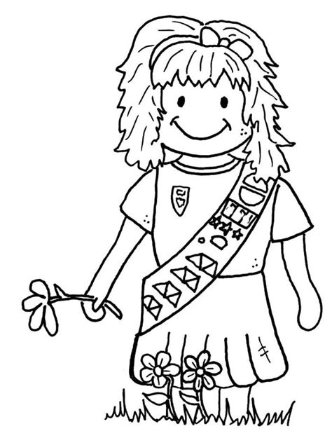 girl scout brownie coloring pages gina s board pinterest