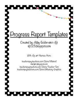 Speech Therapy Progress Report Template
