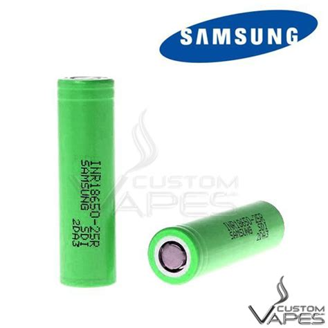 Promo Samsung Inr 18650 25r Li Ion Battery 2500mah 3 7v With Flat Top samsung inr 18650 25r 2500mah 20a green flat top battery custom vapes uk