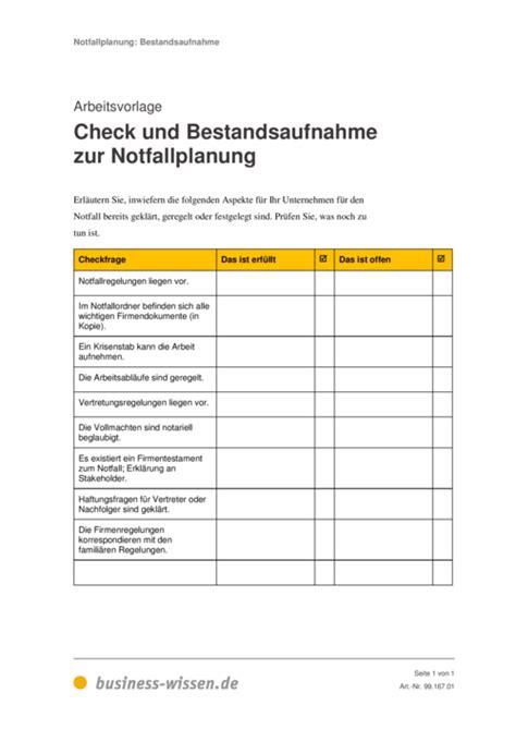 notfallplanung fuer unternehmen management handbuch