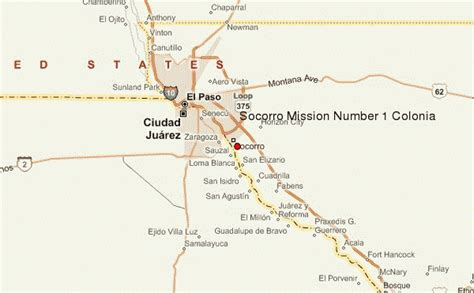 where is el paso texas located on a map socorro mission number 1 colonia location guide