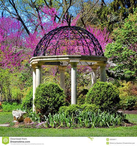 Sayen Park Botanical Garden Sayen Park Botanical Gardens Gazebo Temple Garden Stock Image Image 40535817