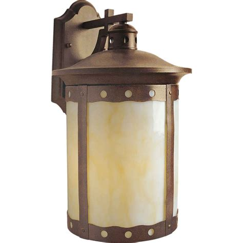 rustic outdoor wall lights shop 12 in h rustic sienna outdoor wall light at lowes com