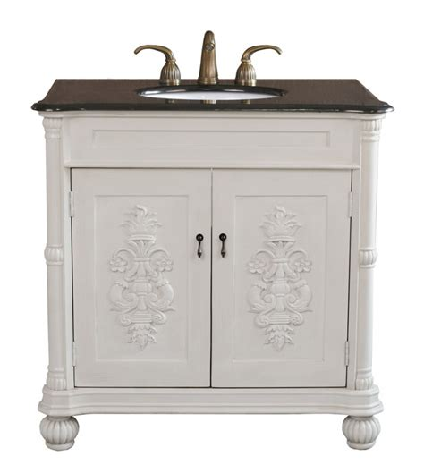 antique white bathroom vanities 36 inch single sink bathroom vanity in antique white
