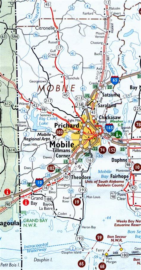 maps for mobile mobile alabama map