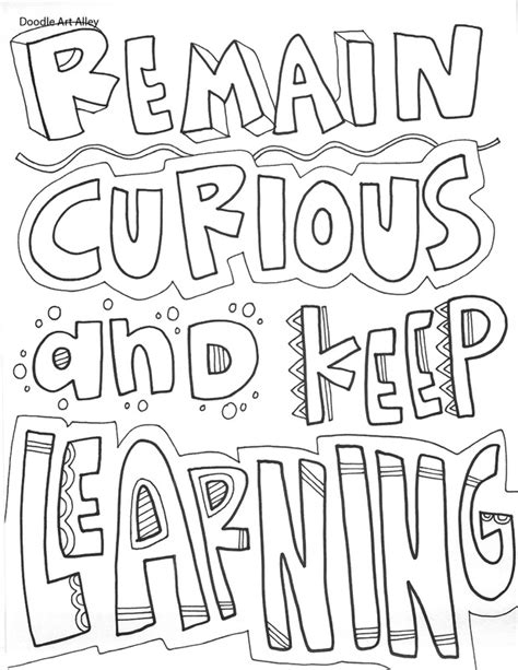 doodle alley inspirational quotes educational quotes coloring pages classroom doodles