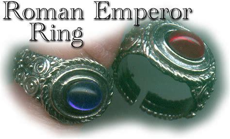 pewter roman emperor rings   colosseum postcard