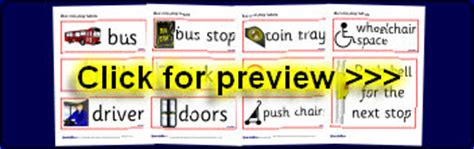printable bus tickets for role play eyfs early years bus station roleplay posters signs