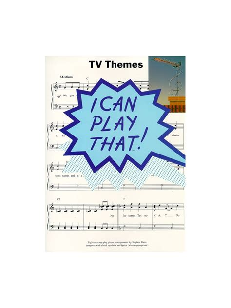 tv themes cartoon lyrics i can play that tv themes lyrics chords sheet music