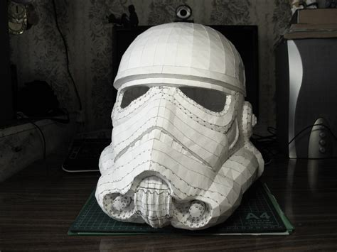 Papercraft Helmets - stormtrooper helmet of construction by