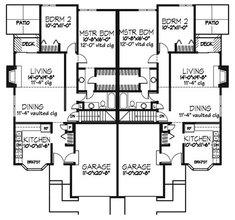 ranch duplex floor plans gladstone heights ranch duplex plan 072d 0198 house