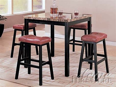 acme acme dresden 5 pc round counter height dining table set in portland 5 piece counter height set by acme 06046