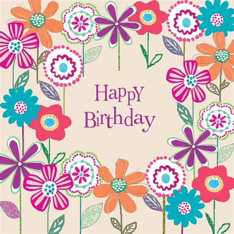 Happy Birthday Cards With Flowers Happy Birthday In Flowers Birthday Pinterest Happy