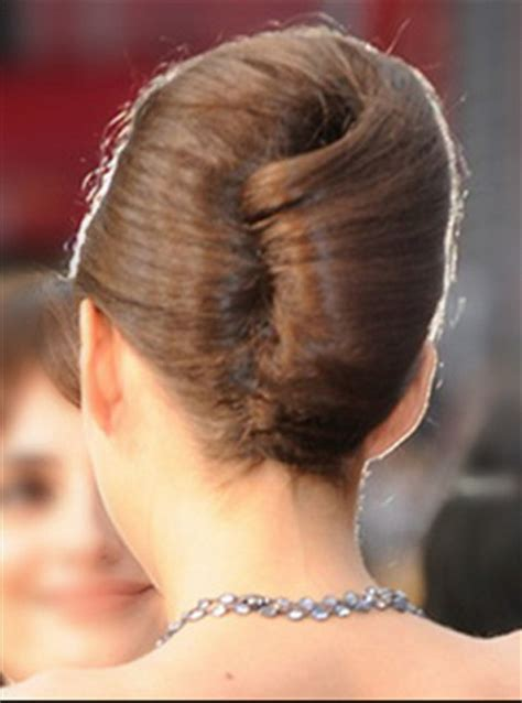 hair in a french roll french twist