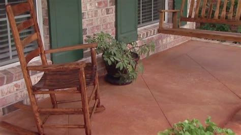 Improving the Look of a Concrete Porch Floor   Today's