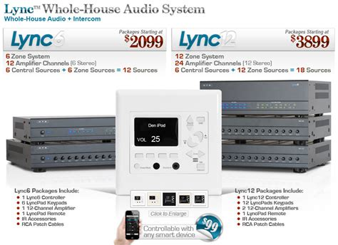 introducing the lync whole house audio system