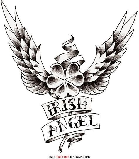 tattoo celtic angel angel clover tatoos clover wings tattoo tattoos design