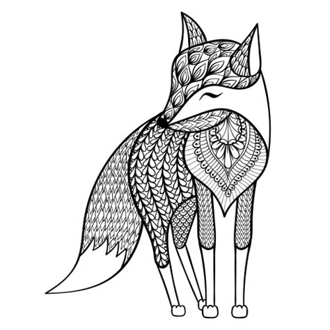 fox coloring page for adults free fox adult coloring page kidspressmagazine com