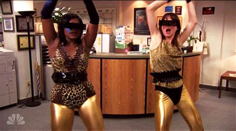 mindy kaling yes gif the office dancing gif find share on giphy