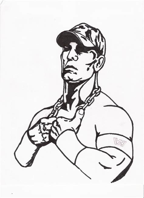 John Cena Coloring Pages Printable Coloring Home Cena Coloring Pages