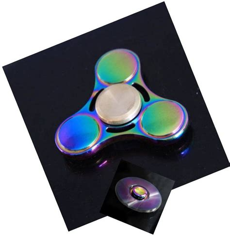 Spinner Rinbaow Spinner Metal 20 units of metal fidget spinner rainbow metal high speed tri spinner at alltimetrading