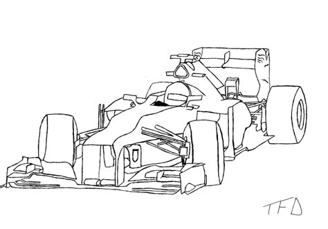 Formula 1 Sketches by How To Draw Formula 1 Car