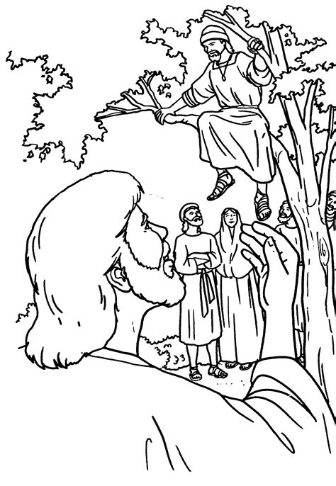color page matthew the tax collector coloring pages for free